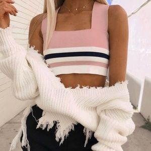 NWT LF Square Neck Crop Top
